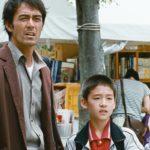 Il protagonista Hiroshi Abe in un'immagine tratta da Ritratto di famiglia con tempesta di Hirokazu Kore-eda (Umi yori mo mada fukaku, Giappone 2016)