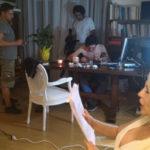 Immagini dal set di Altin in città per il regista Fabio Del Greco.
