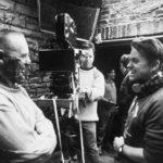 Jonathan Demme con Anthony Hopkins sul set de Il silenzio degli innocenti (1991)