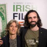 Il regista Seán T. Ó Meallaigh con Susanna Pellis, direttrice dell'Irish Film Festa (foto Emanuele Sanità)