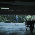 Laura Linney in una simbolica immagine di Ozark, serie tv creata da Bill Dubuque e Mark Williams (USA, 2017)