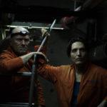 Michael Rooker e David Dastmalchian in The Belko Experiment di Grag McLean (USA, 2016)