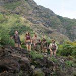 Il cast pronto all'azione in Jumanji - Benvenuti nella giungla di Jake Kasdan (USA, 2017)