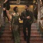Lupita Nyong'o e Chadwick Boseman in un momento di Black Panther di Ryan Coogler (USA, 2018)