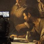Un momento delle riprese del documentario Caravaggio - L'anima e il sangue di Jesus Garces Lambert (Italia, 2018)