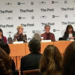"""Un momento della conferenza stampa milanese di """"The Post"""" di Steven Spielberg (USA, UK 2017)"""