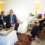 I registi intervistano Emma Bonino nel documentario Pertini il combattente di Giancarlo De Cataldo e Graziano Diana (Italia, 2018)