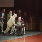 Vittorio Storaro con Bernardo Bertolucci sul palco del Teatro Petruzzelli durante il Bif&st 2018