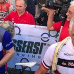 Giusepe Saronni e Francesco Moser, in passato rivali nel documentario Moser, scacco al tempo di Nello Correale (Italia, 2018)