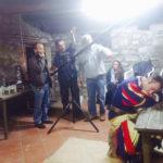 Angelo Marotta sul set della docu-fiction Il Demonio di Rimondeto