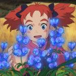 Un'immagine floreale della giovanissima protagonista di Mary e il fiore della strega di Hiromasa Yonebayashi (Meari to majo no hana, Giappone 2017)