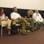 A destra Terence Davies in un momento della conferenza stampa romana per A Quite Passion