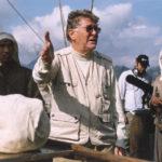 Ermanno Olmi sul set di Cantando dietro i paraventi di Ermanno Olmi (Italia, UK, Francia 2003)