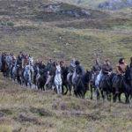 Spostamenti di massa durante Outlaw King - iIl re fuorilegge di David Mackenzie (UK, USA 2018)