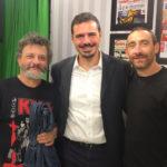 Simone Zizzari in compagnia dei fratelli Manetti.