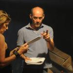 Claudio Lattanzi istruisce un'interprete sul set di Everybody's End (foto di Claudio Bellomo)