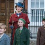 Emily Blunt e i tre pargoli ne Il ritorno di Mary Poppins di Rob Marshall (Mary Poppins Return, USA 2018)