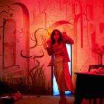 Jessica Harper terrorizzata in Suspiria di Dario Argento (Italia, 1977)