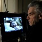 Il regista David Cronenberg a lavoro sul set di A Dangerous Method (UK, USA, Canada, Germania, Svizzera 2011)