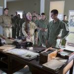 Tra gli altri Vince Vaughn e Andrew Garfield in un momento de La battaglia di Hacksaw Ridge di Mel Gibson (USA, Australia 2016)
