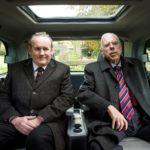 Colm Meaney e Timothy Spall in un momento de Il viaggio di Nick Hamm (The Journey, UK 2016)