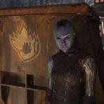 Karen Gillan in un momento di Guardiani della galassia vol, 2 di James Gunn (Guardians of the Galaxy Vol. 2, USA 2017)