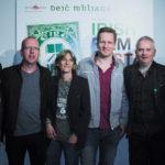 Eugene O'Brien e Declan Recks con Susanna Pellis e altri ospiti dell'Irish Film Festa 2017 (foto Guido Cavatorta)