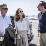 Alec Baldwin, Diane Lane e Arnaud Viard in un momento di Parigi può attendere di Eleanor Coppola (Bonjur Anne, USA 2016)