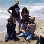 Un'immagine da set del cortometraggio Mare Nostrum di Maryam Rahimi.