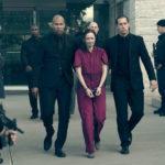 "Alexis Bledel ""arrestata"" durante The Handmaid's Tale serie televisiva creata da Bruce Miller (Canada, 2017)"