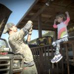 Channing Tatum fotografa la figlioletta durante Logan Lucky di Steven Soderbergh (USA, 2017)