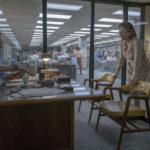 Ancora i due protagonisti nella sede del giornale in The Post di Steven Spielberg (USA, UK 2017)