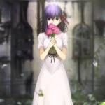 Una poetica immagine tratta da Fate/Stay Night: Heaven's Feel 1. Presage Flower di Tomonori Sudô (Giappone, 2017)