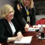 Liv Ullmann durante l'incontro con la stampa al Bergamo Film Meeting 2018