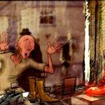 Una colorata immagine tratta dal corto An Béal Bocht / The Poor Mouth di Tom Collins (Irlanda, UK 2017)