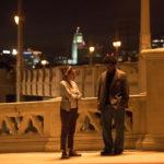 Carmen Ejogo con Denzel Washington in un momento di End of Justice - Nessuno è innocente di Dan Gilroy (Roman J. Israel, Esq., USA, Canada 2017)