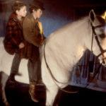 Ragazzi e cavallo in una esplicativa immagine di Into the West di Mike Newell (Tir-na-nog, Irlanda, UK 1992)