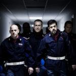 Filippo Nigro, Marco Giallini e Pierfrancesco Favino in un'immagine tratta da A.C.A.B. di Stefano Sollima
