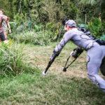 Backstage di effetti speciali durante Rampage - Furia animale di Brad Peyton (USA, 2018)