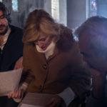Valeria Bruni Tedeschi nel backstage del documentario Van Gogh - Tra il grano e il cielo di Giovanni Piscaglia (Italia, 2018)