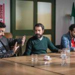 I tre del collettivo, attori e registi di Si muore tutti democristiani di Il Terzo Segreto di Satira (Italia, 2017)