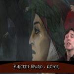 L'attore Vincent Spano in un momento del documentario Inferno by Dante di Boris Acosta (USA, 2018)