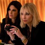 Sandra Bullock e Cate Blanchett in un momento di Ocean's 8 di Gary Ross (USA, 2018)