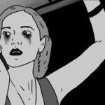L'animazione in bianco e nero di Cat Noir, cortometraggio di O'Neil Bürgi (Svizzera, 2018)
