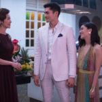 I tre protagonisti ritratti nel corso di Crazy & Rich di Jon M. Chu (Crazy Rich Asians, USA 2018)