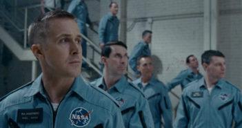 Astronauti schierati duranti Il primo uomo di Damien Chazelle (First Man, USA, Giappone 2018)