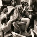 Trucchi artigianali su Sigourney Weaver sul set di Ghostbusters di Ivan Reitman (USA, 1984)