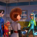 La fantasmagorica famiglia Parr in Gli Incredibili 2 di Brad Bird (Incredibles 2, USA 2018)