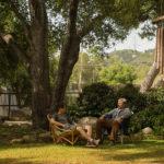 Timothée Chalamet e Steve Carell conversano in Beautiful Boy di Felix Van Groeningen (USA, 2018)