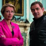 Emma Thompson e Rowan Atkinson, protagonisti di Johnny English colpisce ancora di David Kerr (Johnny English Strikes Again, UK, USA, Francia 2018)